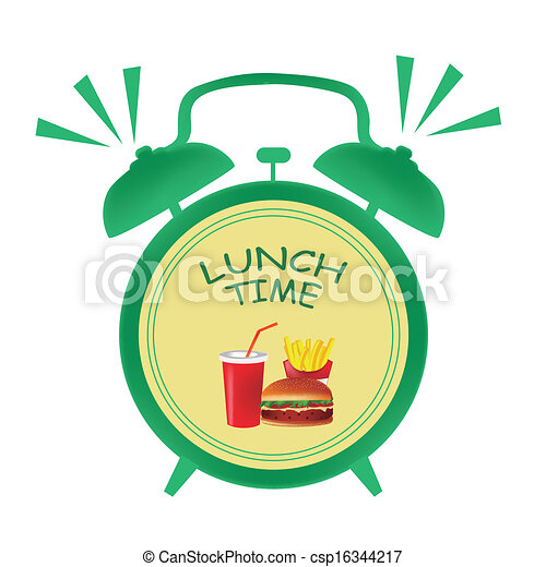 lunch time clock a green clock indicating it is time for vector rh canstockphoto com time clock clipart time change clock clipart