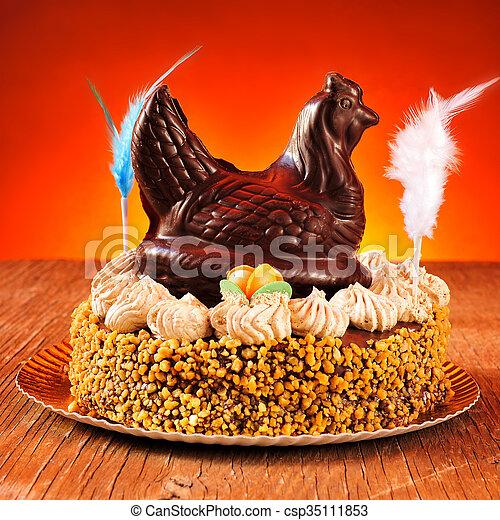 lunes, mona, de, pascua, adornado, comido, pastel, pascua, españa - csp35111853