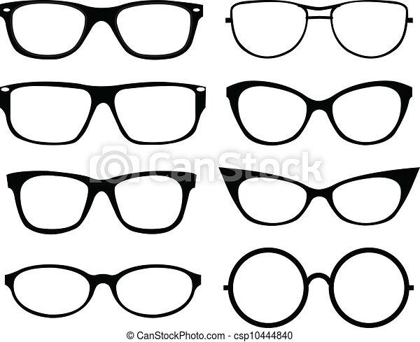 lunettes, ensemble - csp10444840