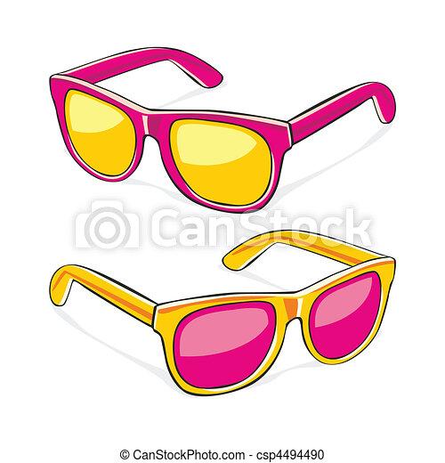 Préférence Pleinement, editable, illustration, vecteur, lunettes soleil  CV17