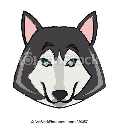 Lupo cartone animato icona. canada colorito sopra illustrazione