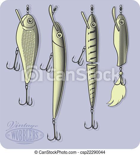 lures(wobblers), peche, artificiel - csp22290044