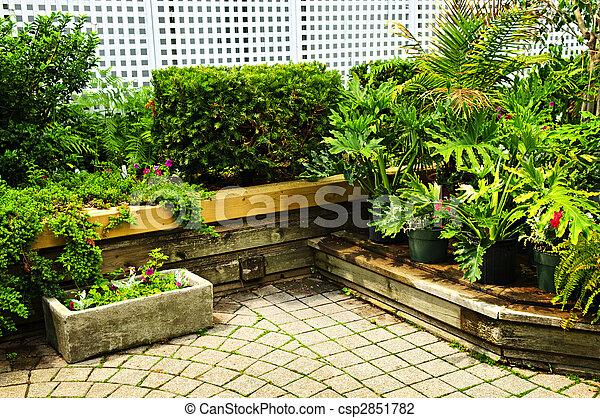 Lush green garden - csp2851782