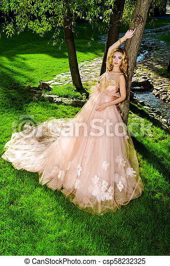 lush peach dress - csp58232325