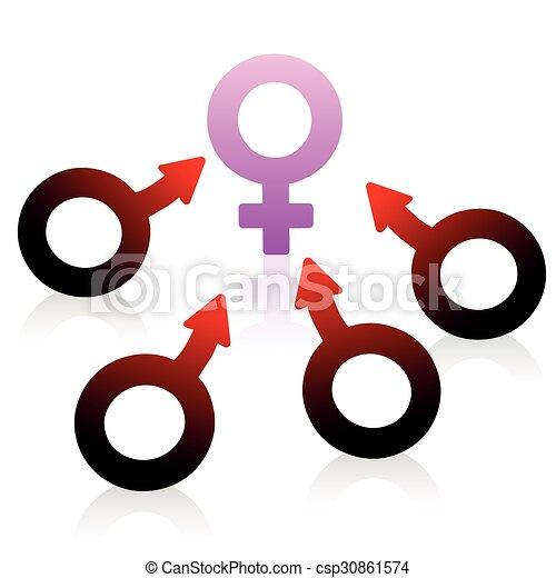 Lust Desire Male Female Symbol Lust Desire And Craving