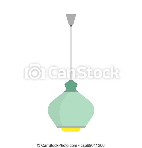 Luster chandelier lamp light decoration illustration. Room vector icon luxury interior equipment ceiling element - csp69041206