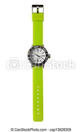 Fluor grüne Sportuhr - csp13628309