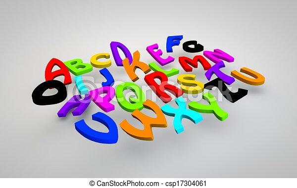 lustiges, alphabet - csp17304061