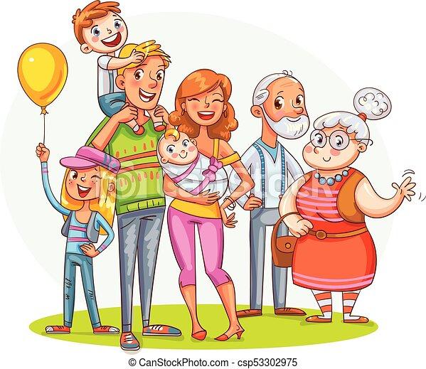 lustiges familie gro zeichen zusammen mein karikatur t chterchen father illustration. Black Bedroom Furniture Sets. Home Design Ideas