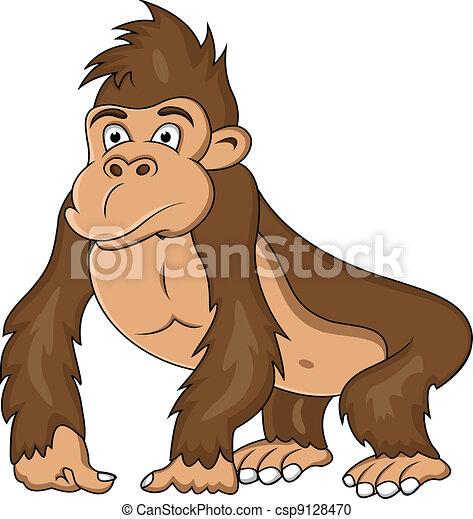 lustiges, karikatur, gorilla - csp9128470