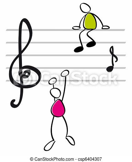 lustiges, musiker - csp6404307