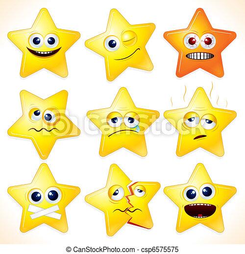 Komische Sterne - csp6575575