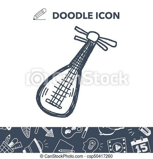 lute doodle - csp50417260