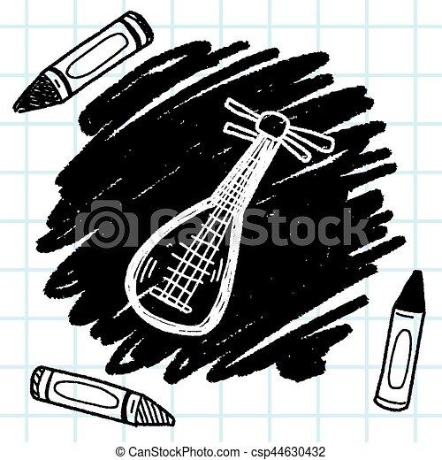 lute doodle - csp44630432