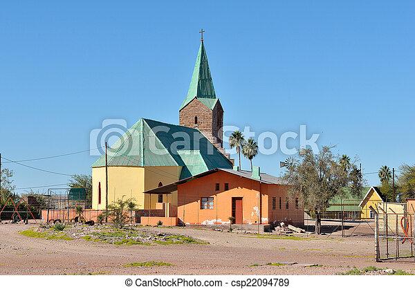 Lutheran church in Berseba, Namibia - csp22094789