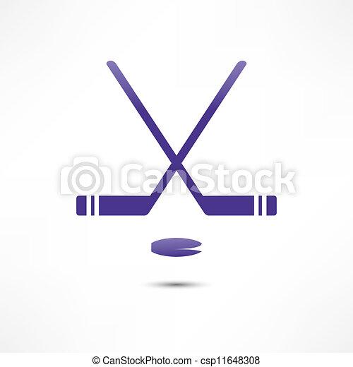 lutin, hockey bâton, icône - csp11648308