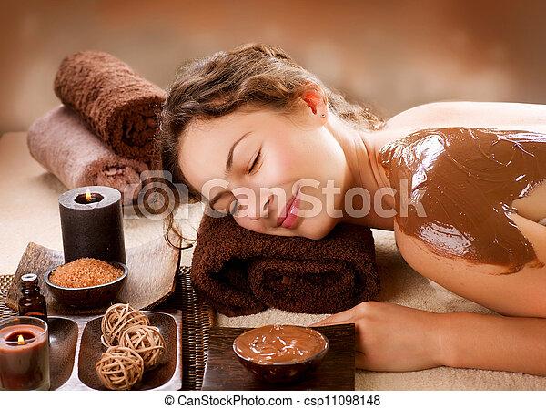 luxe, mask., chocolat, traitement, spa - csp11098148