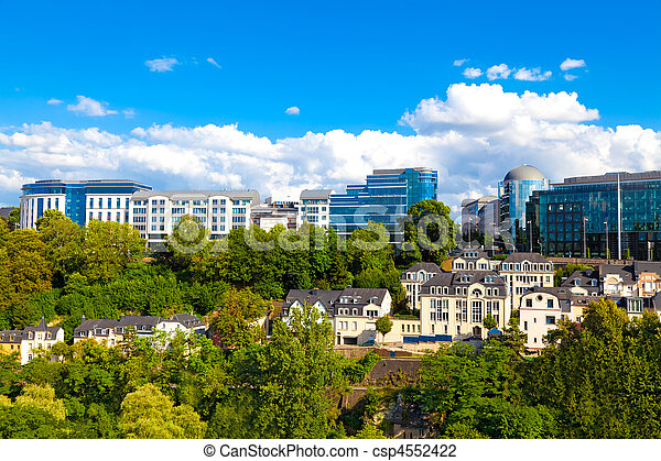 Luxembourg city modern part of downtown luxembourg luxembourg city csp4552422 thecheapjerseys Images