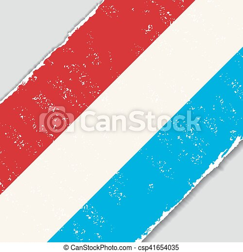 Luxembourg grunge flag. Vector illustration. - csp41654035