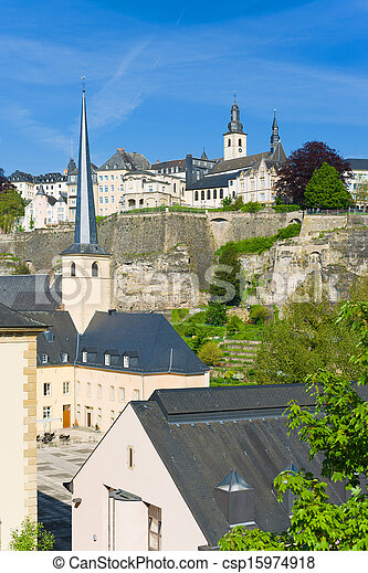 Luxembourg in a sunny day - csp15974918