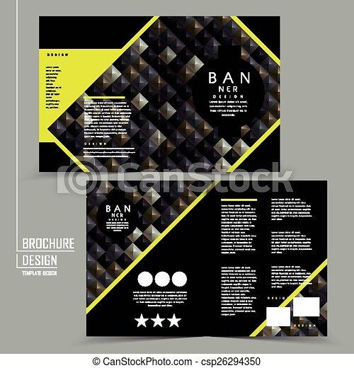 Luxurious Halffold Brochure Template Design With D Rhombus - Free half fold brochure template