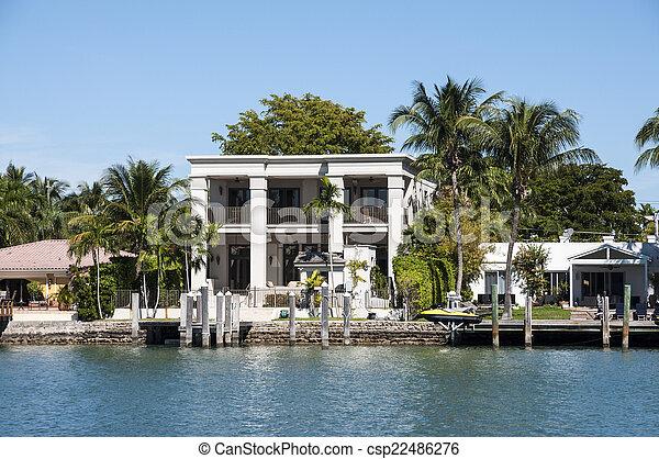 Luxurious mansion on Star Island in Miami, Florida, USA - csp22486276