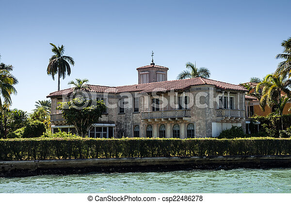 Luxurious mansion on Star Island in Miami, Florida, USA - csp22486278