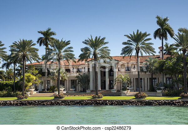 Luxurious mansion on Star Island in Miami, Florida, USA - csp22486279