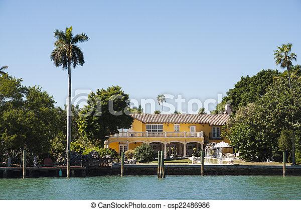 Luxurious mansion on Star Island in Miami, Florida, USA - csp22486986