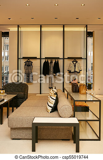 4c5f46b906b9 Luxury and fashionable european different clothes shop.
