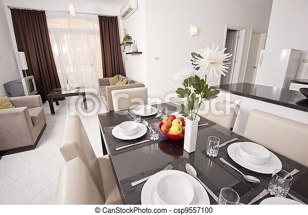 Luxury apartment interior design - csp9557100