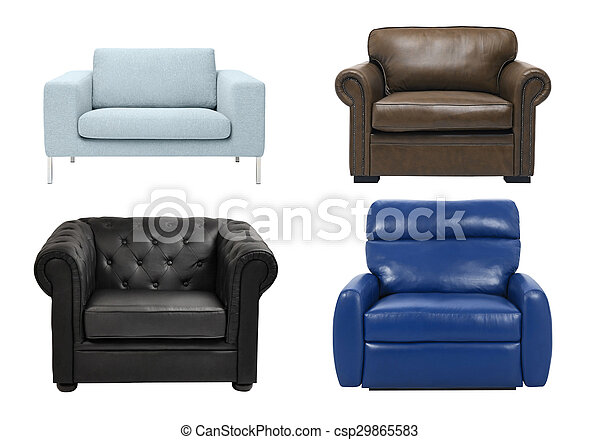 luxury armchair isolated on white background - csp29865583