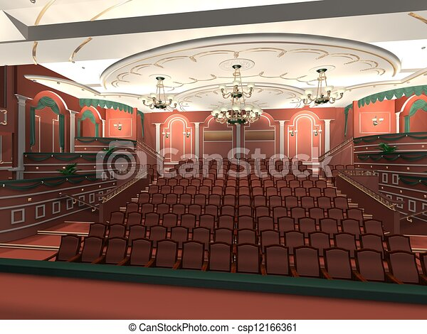 Luxury audience hall - csp12166361