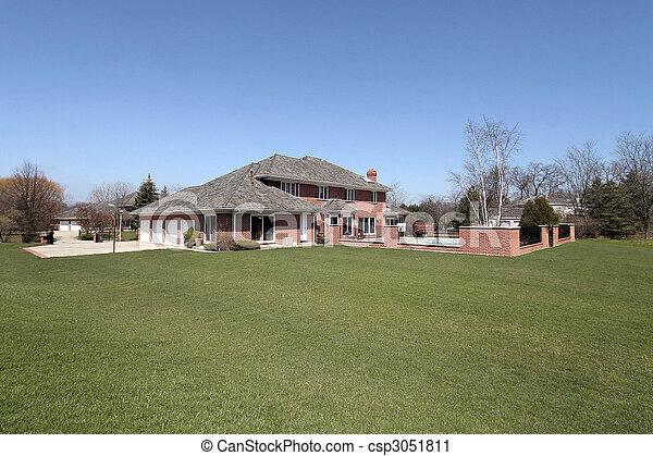 Luxury brick home - csp3051811