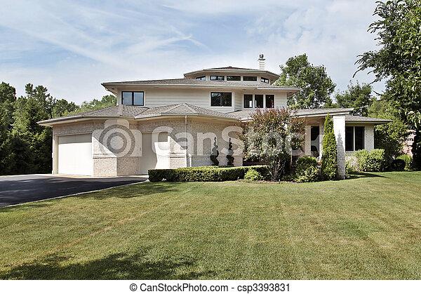 Luxury brick home - csp3393831