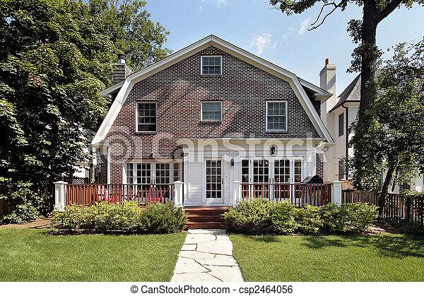Luxury brick home - csp2464056