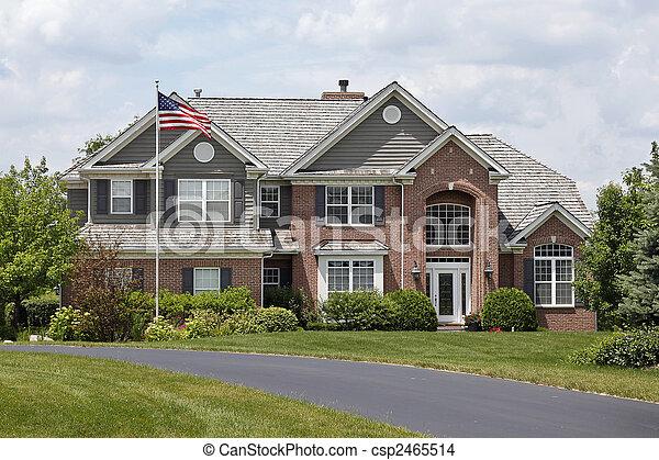 Luxury brick home - csp2465514