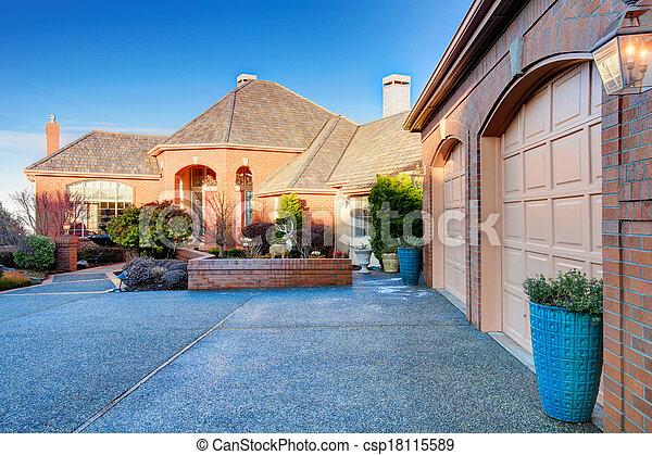 Luxury brick house - csp18115589