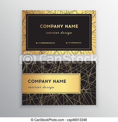 Luxury business card gold and black horizontal business card luxury business card gold and black horizontal business card template design for personal or business use with front and back side vector illustration reheart Image collections