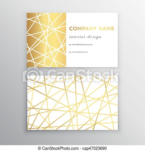 Luxury business card gold and white horizontal business card luxury business card gold and white horizontal business card template design for personal or business flashek Images