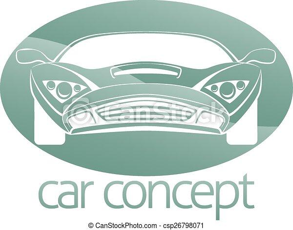 Luxury car circle concept - csp26798071