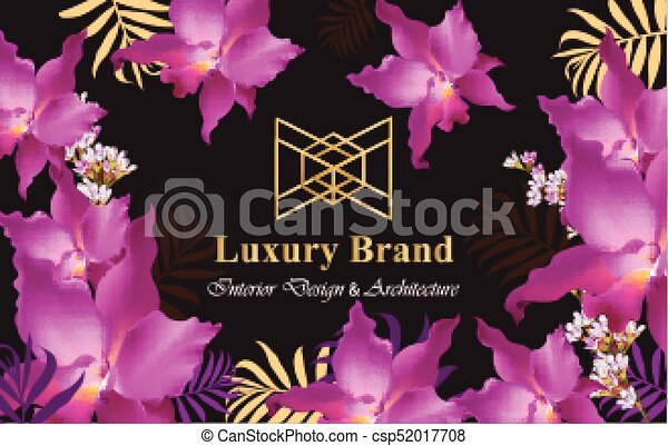 Luxury card with orchid flowers vector beautiful illustration for luxury card with orchid flowers vector beautiful illustration for brand book business card or reheart Image collections
