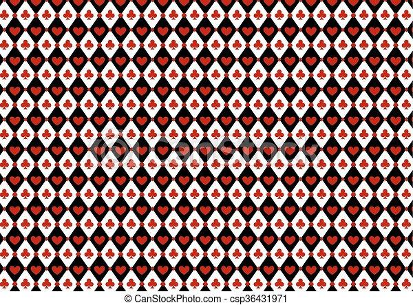 Luxury casino gambling background with card symbols - csp36431971