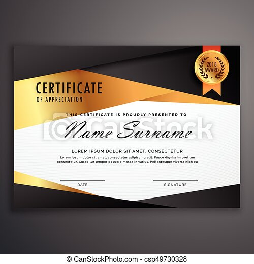 luxury certificate design template made with geometric shapes csp49730328