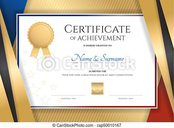 Luxury certificate template with elegant golden border frame luxury certificate template with elegant golden border frame diploma design for graduation or completion yadclub Gallery