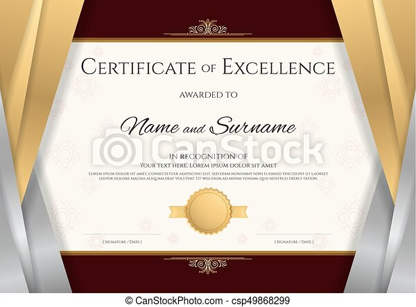 Luxury certificate template with elegant silver and golden eps luxury certificate template with elegant silver and golden border frame diploma design for vector yadclub Images