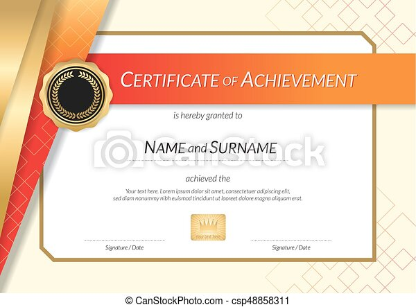 Luxury certificate template with elegant golden border vector luxury certificate template with elegant golden border frame diploma design for graduation or completion yadclub Choice Image