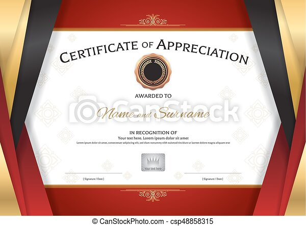 Luxury certificate template with elegant golden red border vector luxury certificate template with elegant golden red border frame diploma design for graduation or completion yadclub Image collections