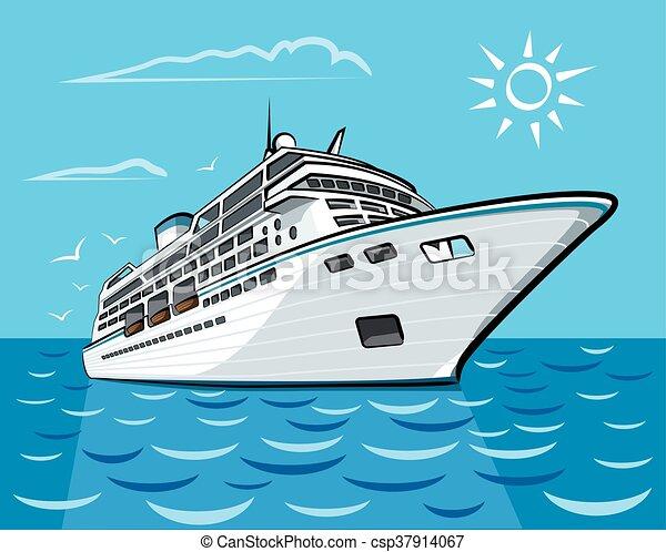 luxury cruise liner - csp37914067