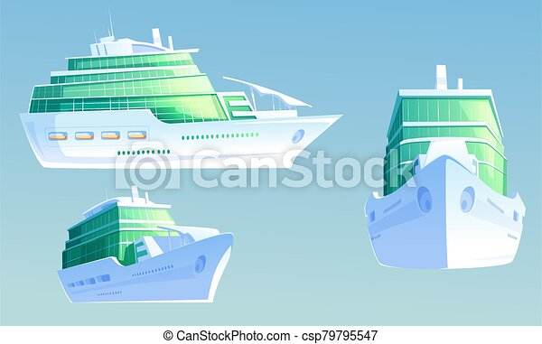 Luxury cruise liner for summer vacation and travel - csp79795547